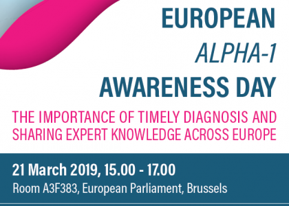 """European Alpha 1 Awareness Day"" – Bruxelles, 21 martie 2019"